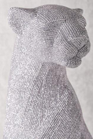 XL Diamanté Effect Panther Sculpture