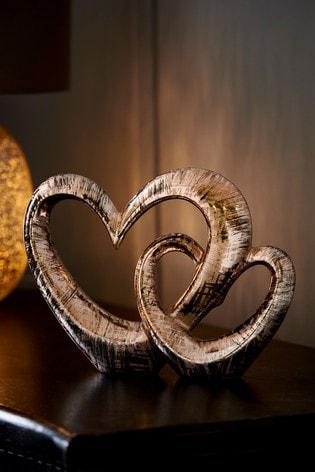 Rose Gold Blush Heart Ornament