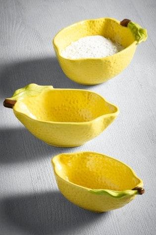 Set of 3 Lemon Shaped Measuring Cups