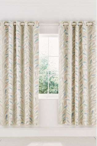 Sanderson Home Sea Kep Lined Eyelet Curtains