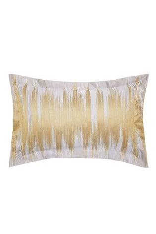 Harlequin Motion Gold Ikat Cotton Pillowcase