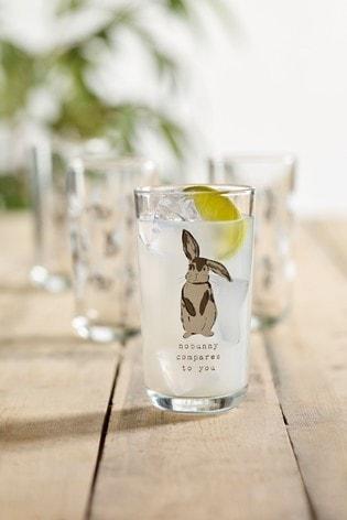Set of 4 Bunny Glasses