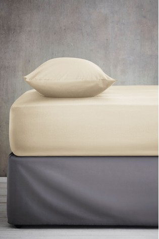 Natural Cool Touch Tencel 200 Thread Count Deep Fitted Sheet