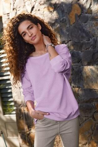 Fluro Purple Embroidered Sweatshirt