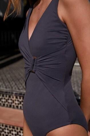 Mint Velvet Plunge Wrap Front Swimsuit
