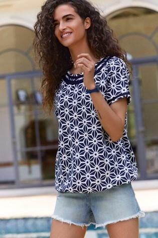 Navy Geo Bubblehem T-Shirt