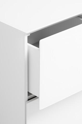 Sloane White Bedside Table