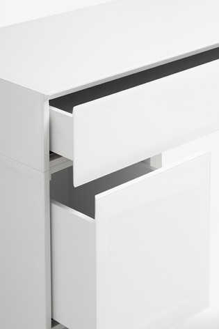 Sloane White Slim Dressing Table