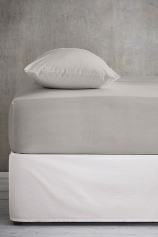 Grey Cool Touch Tencel 200 Thread Count Deep Fitted Sheet
