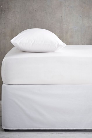 White Cool Touch Tencel 200 Thread Count Fitted Sheet