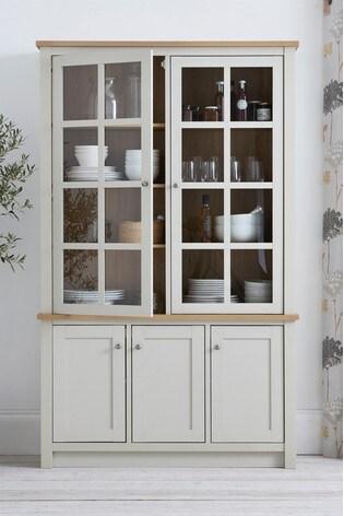 Malvern Cream Glazed Display Cabinet