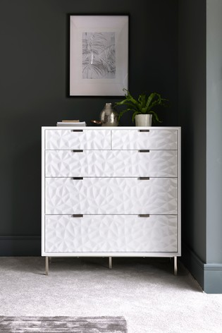 Mode Textured 5 Drawer Multi Chest