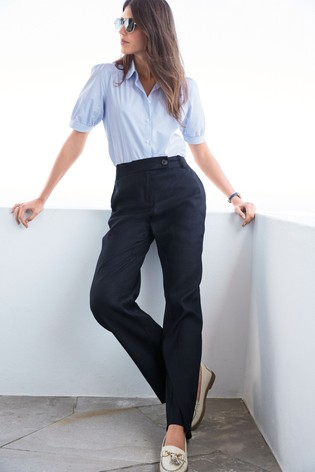 Blue Stripe Short Sleeve Cotton Shirt