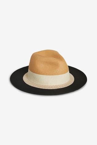 Black Brim Panama Hat
