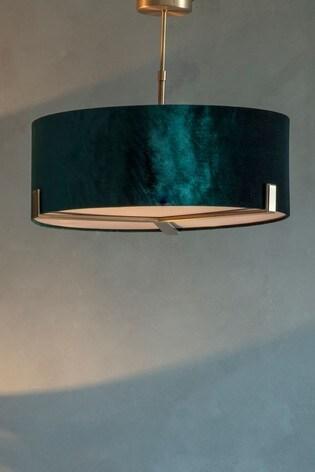 Nicholson Velvet Shade Pendant Light by Gallery Direct