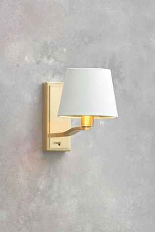 Harry Brushed Gold 205mm Wall Light by Gallery Direct