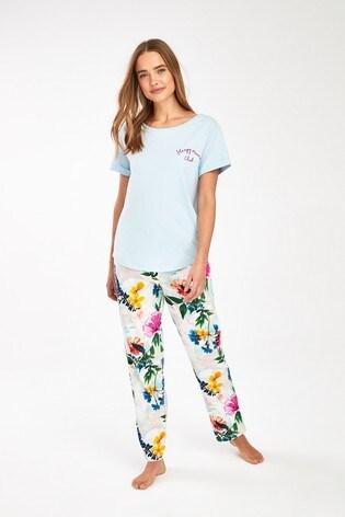 Blue Floral Pyjamas