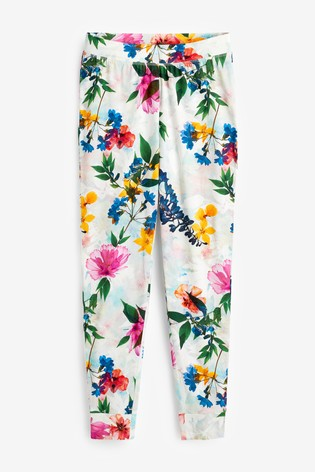 White Floral Cotton Pyjamas