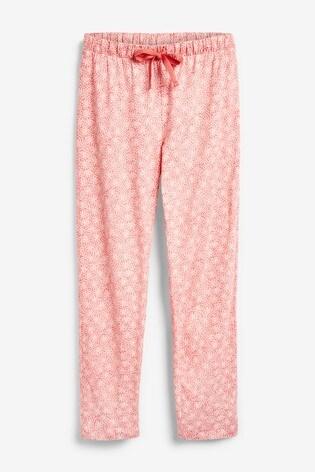 Pink Floral Weekend Slogan Pyjamas