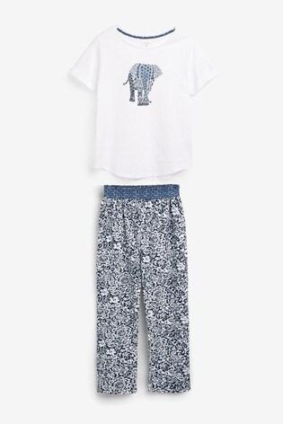 Blue Elephant Pyjama Set