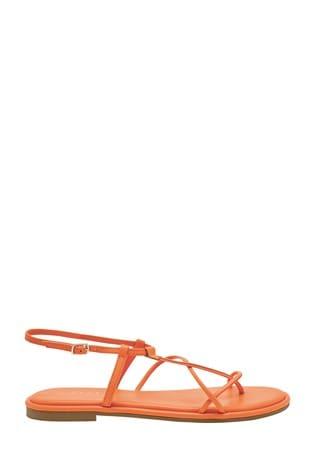 Orange Forever Comfort® Strappy Sandals