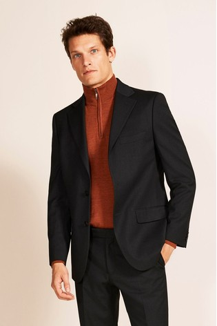 Moss 1851 Tailored Fit Charcoal Stretch Jacket