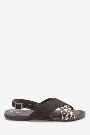 Monochrome Animal Regular/Wide Fit Forever Comfort® Cross Front Slingbacks
