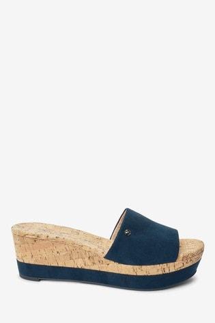 Navy Forever Comfort® Mule Wedges