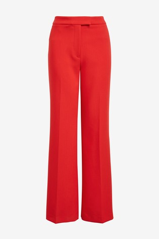 Red Emma Willis Slim Flare Trousers