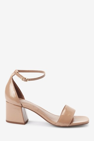 Nude Regular/Wide Fit Forever Comfort® Simple Block Heel Sandals