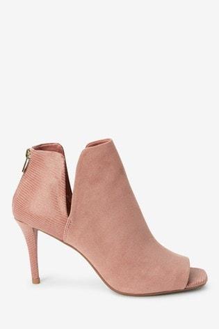 Blush Peep Toe Shoe Boots