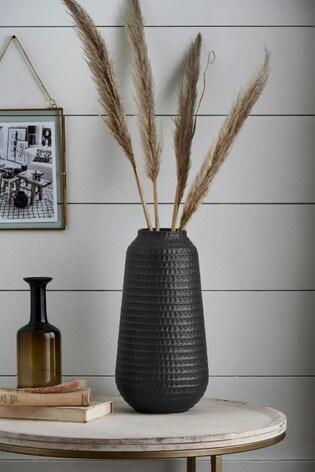 Large Embossed Ceramic Vase