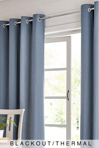 Cotton Eyelet Blackout/Thermal Curtains