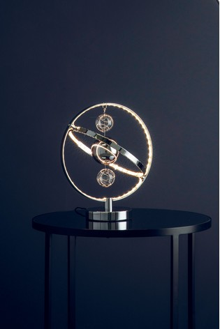 Moory Chrome Table Lamp by Gallery Direct
