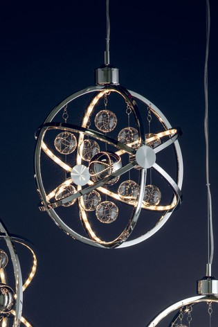 Moory Chrome Pendant Light by Gallery Direct