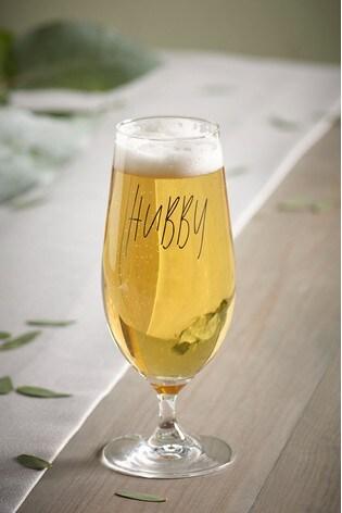 Hubby Beer Glass