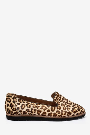 Leopard Leather EVA Slipper Loafers