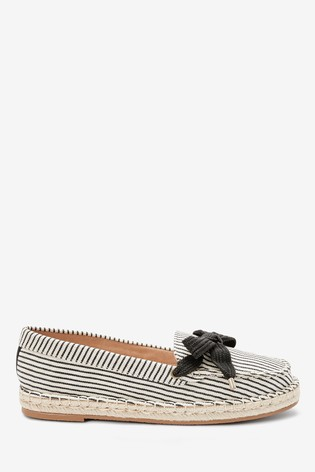 Monochrome Espadrille Boat Shoes