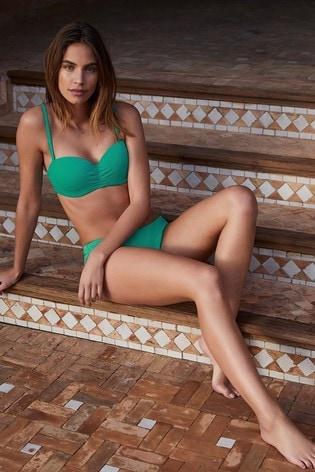 Mint Velvet Textured Bandeau Bikini Top