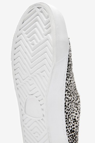Animal Signature Chunky Leather Lace-Up Trainers