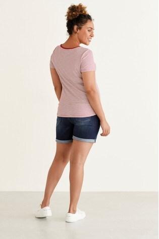 Red Stripe Maternity Jersey T-Shirt