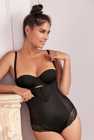 Black Firm Control Wear Your Own Bra Shaping Body