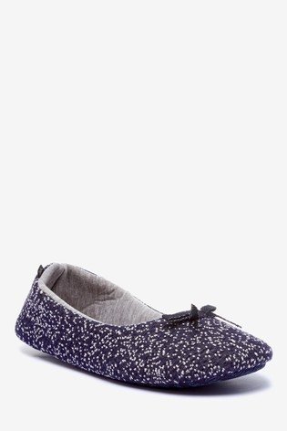 Navy Ballerina Slippers