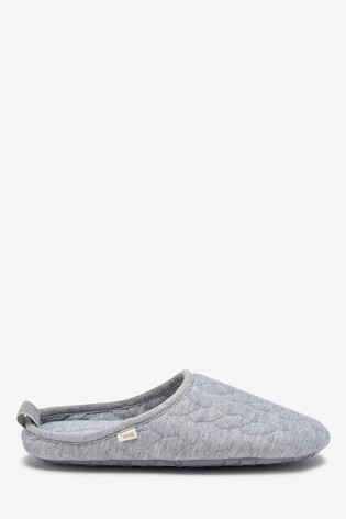 Grey Textured Cable Slippers