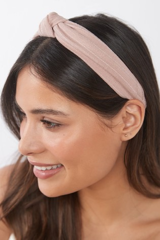 Pink Linen Blend Headband