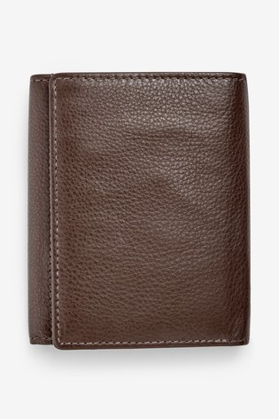 Tan Signature Italian Leather Extra Capacity Trifold Wallet