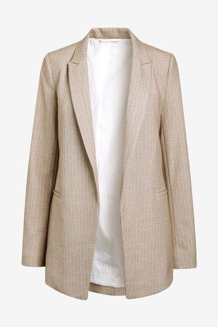 Neutral Stripe Premium Relaxed Blazer