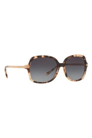 Michael Kors Pink Tortoiseshell Effect Adrianna II Sunglasses