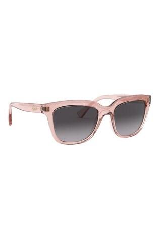 Ralph by Ralph Lauren Pink Transparent Sunglasses