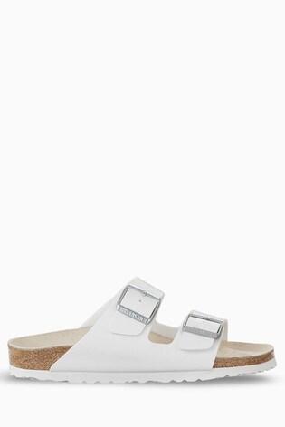 Birkenstock® White Arizona Sandals